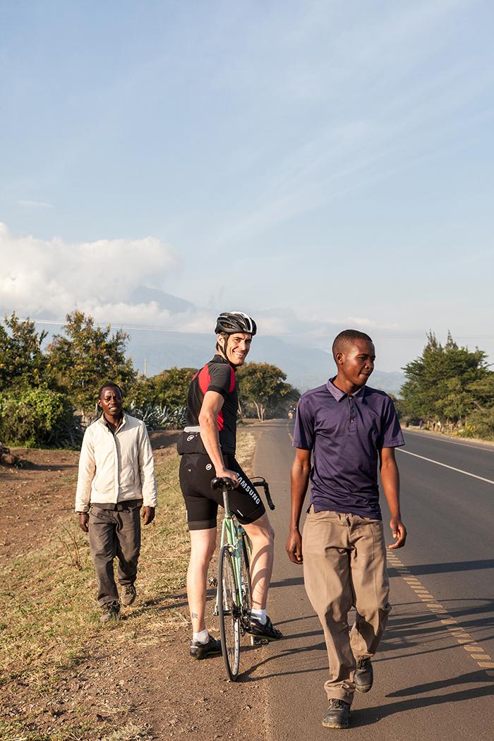 Bike Tour with Franco Marvulli/Velafrica, Arusha Tanzania